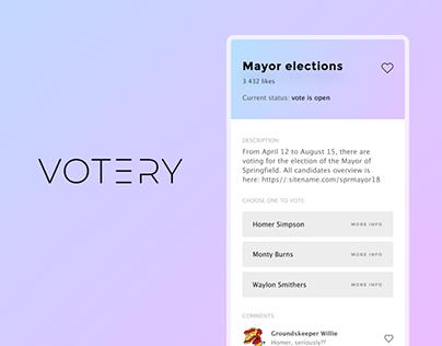 Votery app: Blockchain-Based Democracy