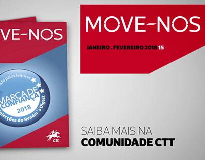 Animação promocional da Revista MOVE_NOS | ctt