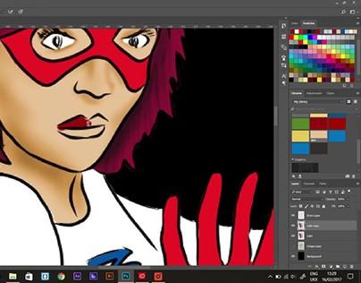 Comic artwork workflow