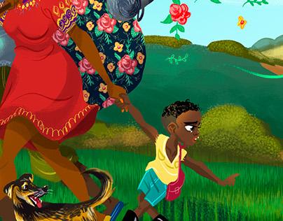 Ilustraciones La diáspora del conflicto colombiano.