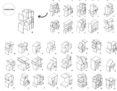 Picasso's Shelf | Cardboard Storage Unit