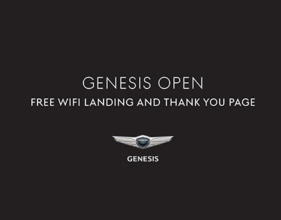 Genesis Open Free WiFi Landing and Thank You Page