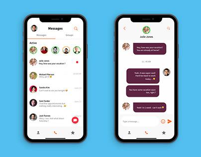 Chatting app Iphone X