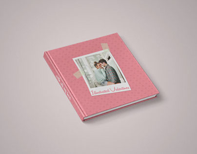 Illustrated Valentines Photo Album