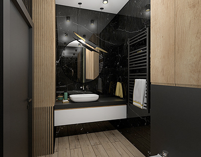 Łazienka w męskim klimacie
