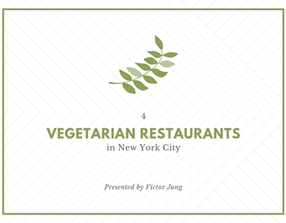 4 Vegetarian Restaurants in New York City