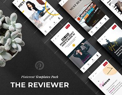 The Reviewer Pinterest Templates Set