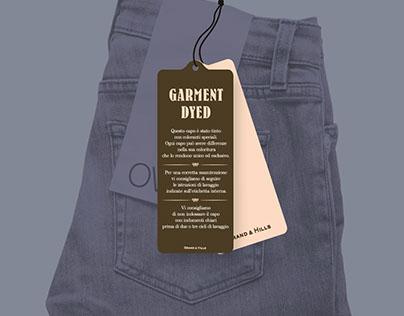 GARMENT DYED: TICKETING PER DENIM GRAND&HILL