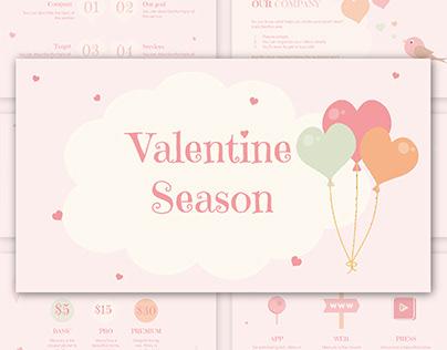 Pastel Valentine Season - free Google Slides Template