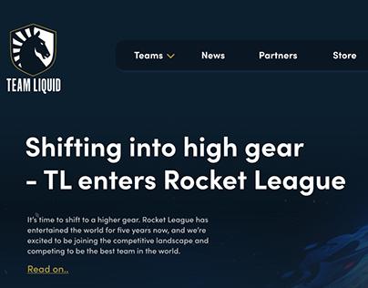 Team Liquid Website Redesign