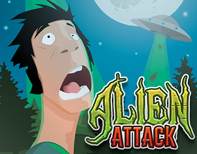 """ALIEN ATTACK"" illustration"