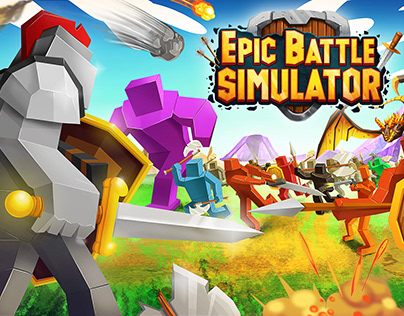 Epic Battle Simulator - Mobile game art