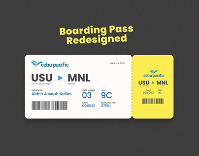 Redesigning Cebu Pacific's Boarding Pass