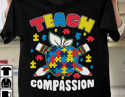 Autism Tshirt Design Bundle 1