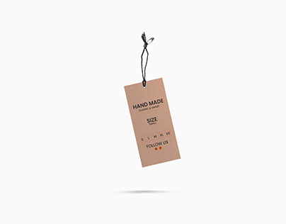 clothing hand tag design