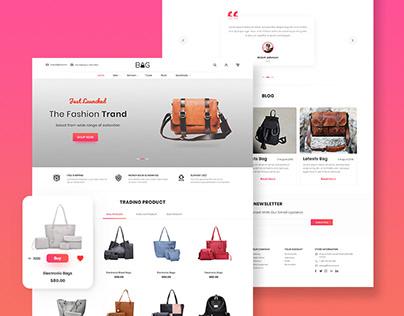Bag E-Commerce website Design