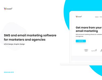 Vision6 - UX/UI Design, Redesign