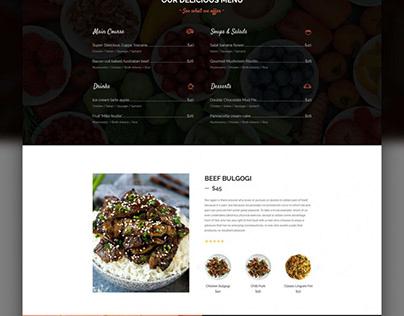 Creative Restaurant Web Template Free PSD