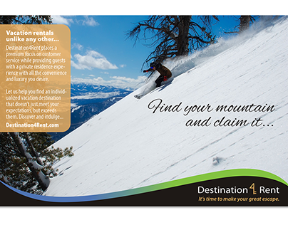 Print ads for an online travel company.