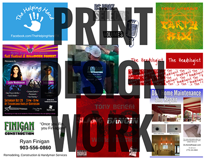 Print Design Work