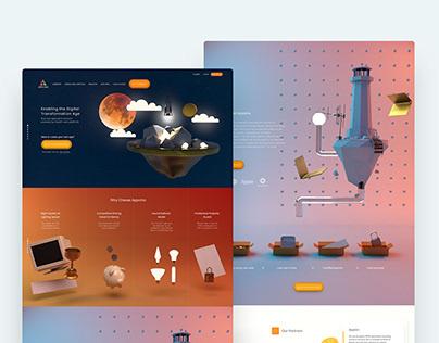 Website Concept for Appcino