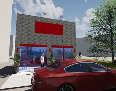 Modelo 3D Apresentação de nova loja para Franquia