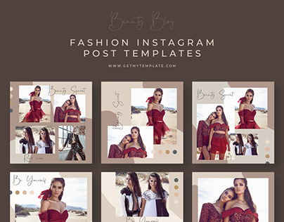 6 FREE FASHION BLOG INSTAGRAM POST TEMPLATES