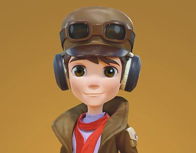 Pequeño Aviador Personaje 3D