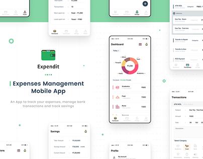 Mobile app :: Expendit :: Expenses Management