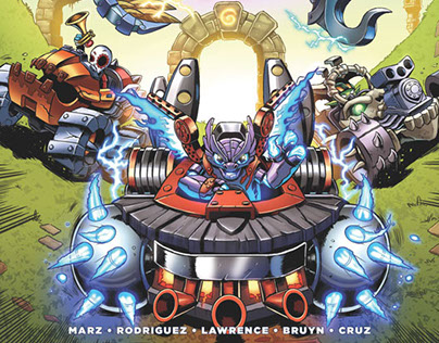 Skylanders Superchargers Issue 4 cover & sequentials