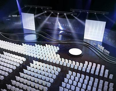 Alibaba 1688 Dealer Conference Stage Design / 2017