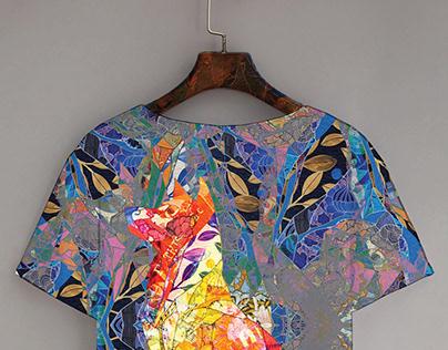 Digital textile design / Dog