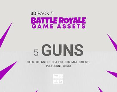3D Pack Battle Royale Game Assets 1