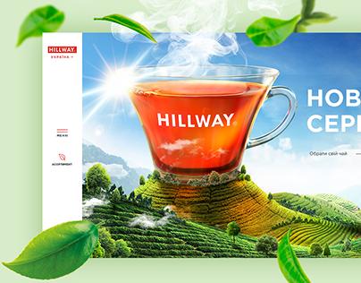 Website ux ui design concept hillway tea