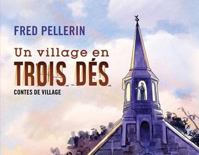 Book Cover Illustration - Un Village en trois dés