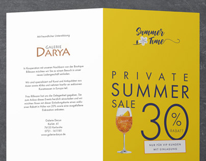 Private Summer Sale Invitation