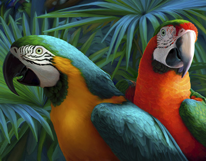 Tropical Bird Paintings