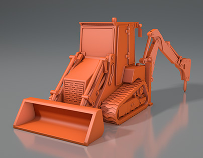 JCB-1 CX tractor with hydraulic hammer