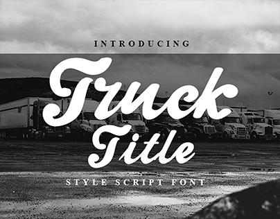 Truck Title Font | Best Script Font