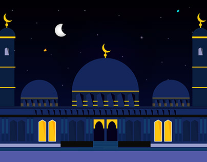 Blessings Of The Month Of Ramadan Vector Illustration