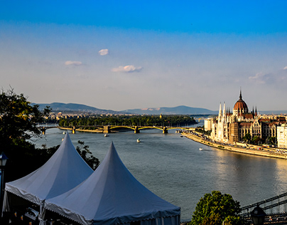 The Danube River as it passes through Budapest