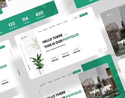 GARDENS MARKET Website Design