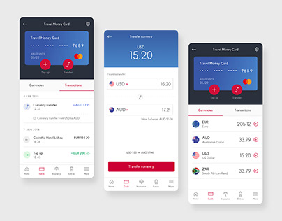 Currency Travel Card App