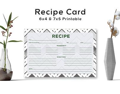 Free Stippled Pattern Recipe Card Template