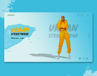 Home Landing Page Concept for Urban Streetwear.