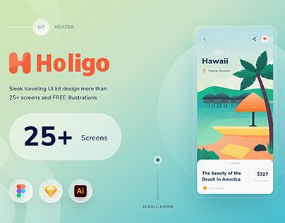 Travel Mobile App | UI Kit Design