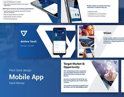 Pitch Deck design. Mobile app.