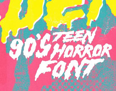 Hell Builder –90's Teen Horror Font