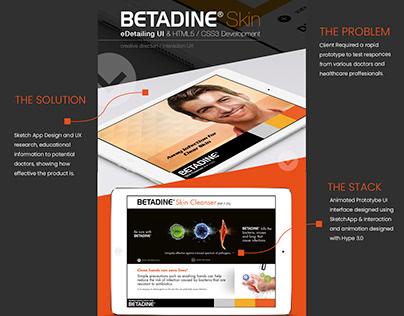 Betadine UX/UI iPad / HTML5 MVP