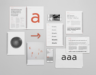 Kinetic typeface
